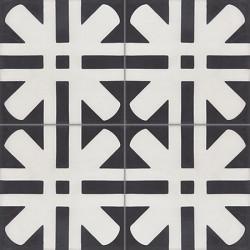 4 Carreaux de ciment coloré motif noir et blanc Amos 01.10