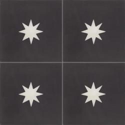 Carreau de ciment coloré motif noir et blanc Mira 01.10