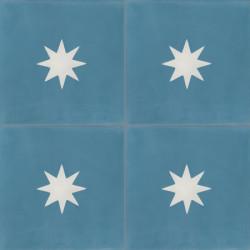 Carreau de ciment coloré motif bleu et blanc Mira 20.10