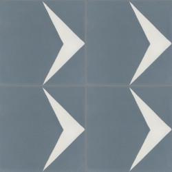 4 Carreaux de ciment coloré motif gris et blanc Pie 33.10