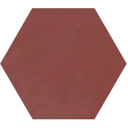 Ciment coloré Hexagone uni marron HU11