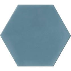 Ciment coloré Hexagone uni bleu HU15
