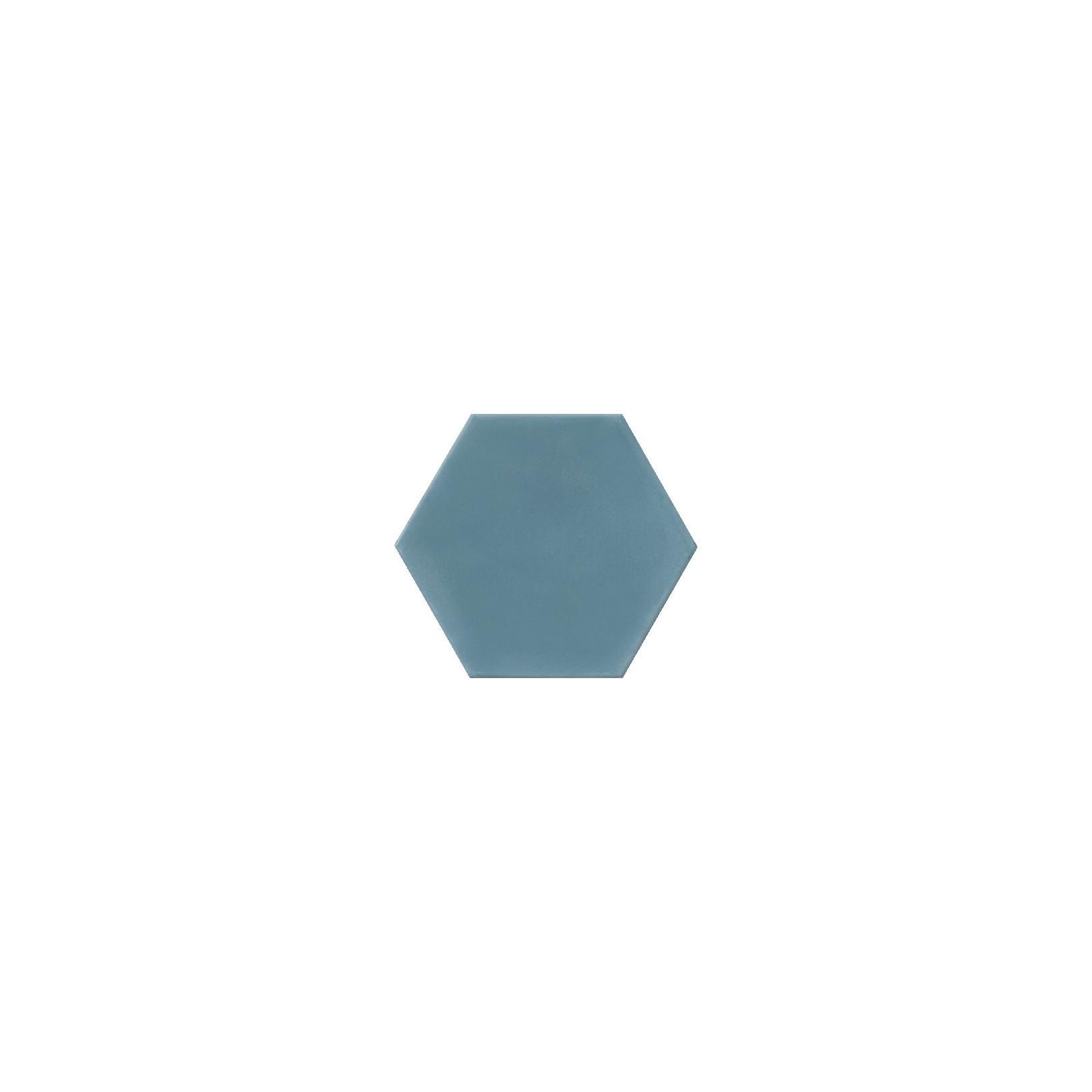 Ciment coloré Hexagone uni bleu HU15