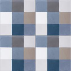 Carreau de ciment coloré damier multicolore A09 33.32.36.07.10.30