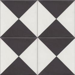 Carreau de ciment coloré noir et blanc PERSE B 10.01