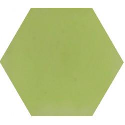 Ciment coloré Hexagone uni vert HU21