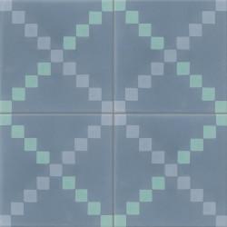 Carreau de ciment coloré bleu TWIST 15.03.06