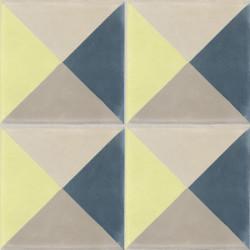 Carreau de ciment coloré vert, bleu et beige PERSE B 21.30.36.37