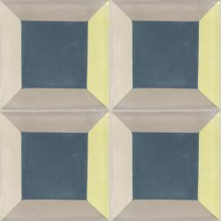 Carreau de ciment coloré vert, bleu et beige PERSE A 21.30.36.37