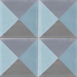 Carreau de ciment coloré bleu et gris PERSE B 06.15.32.33
