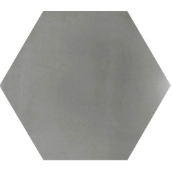 Ciment coloré Hexagone uni gris HU27