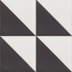 4 Carreaux de ciment coloré noir et blanc DUO 10.01