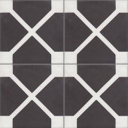 Carreau de ciment coloré noir et blanc ELLIOT 01.10