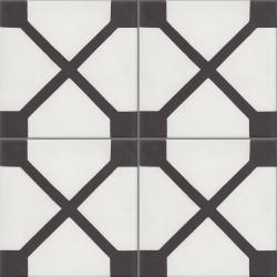 Carreau de ciment coloré noir et blanc ELLIOT 10.01