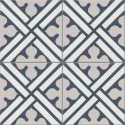 Carreau de ciment coloré blanc, gris et bleu CO11 07.10.30
