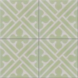 Carreau de ciment coloré vert et gris CO11 07.09