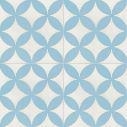 Carreau de ciment coloré bleu et blanc C01 10.06
