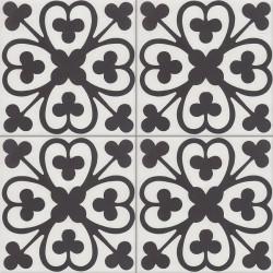 Carreau de ciment coloré blanc et noir BILBO 10.01