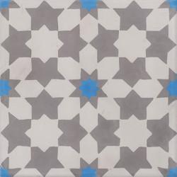 Carreau de ciment coloré gris et bleu CE01 07.27.19