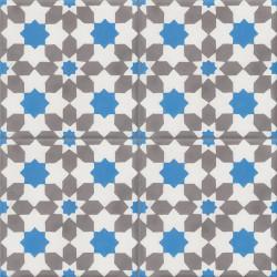 Carreau de ciment coloré gris, blanc et bleu CE01 10.27.19
