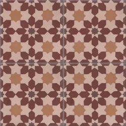 Carreau de ciment coloré Marron (terre cuite) CE01 24.35.26.23