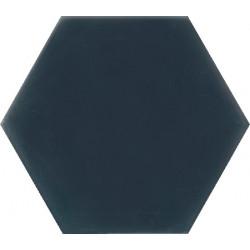 Ciment coloré Hexagone uni bleu foncé HU30
