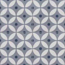 Carreau de ciment coloré gris et bleu LYO B 33.07.30
