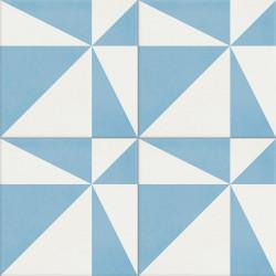 Carreau de ciment coloré blanc et bleu ASTER 15.10