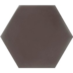 Ciment coloré Hexagone uni marron HU32