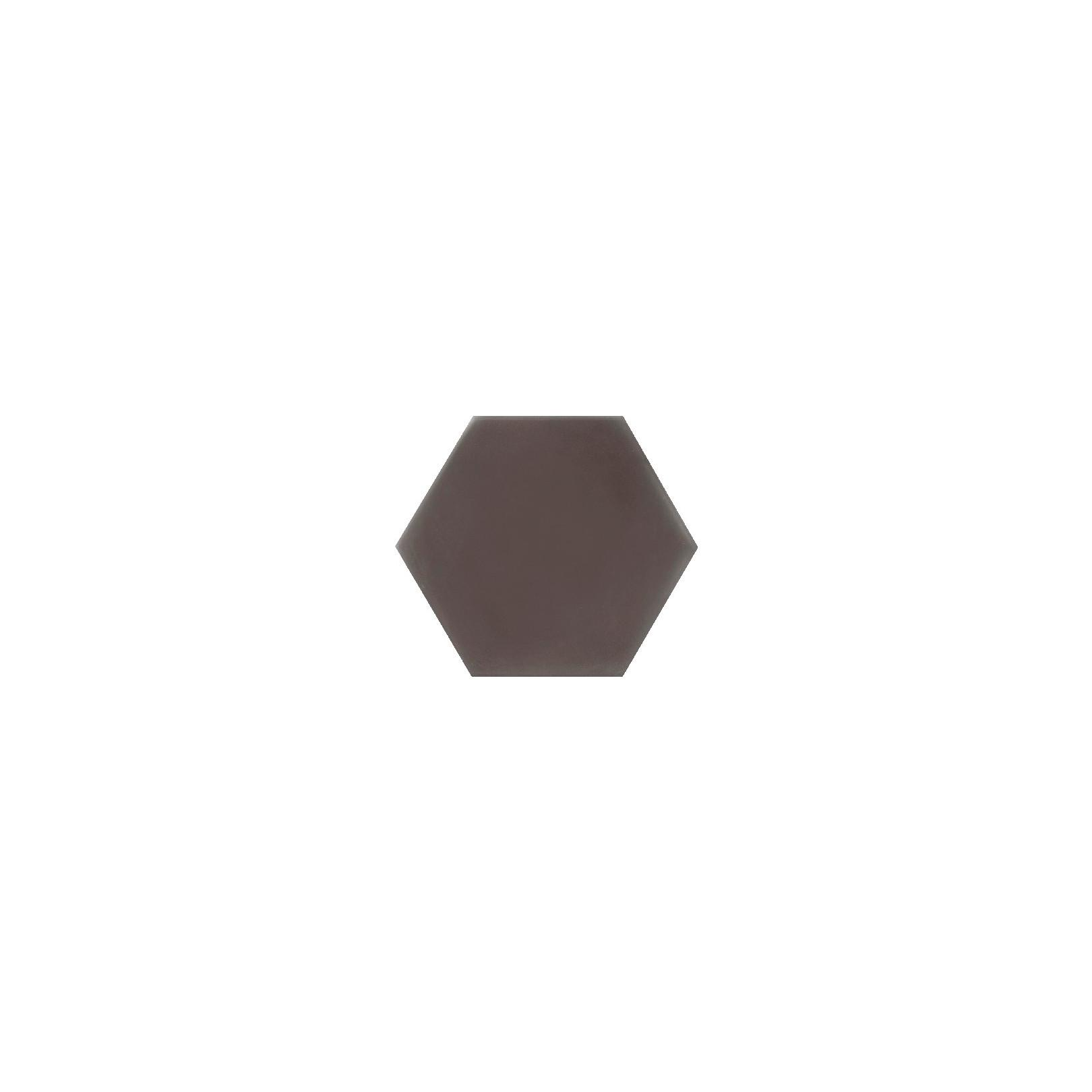 Ciment coloré Hexagone uni marron HU32