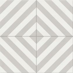 Carreau de ciment coloré gris et blanc AZUR 07.10