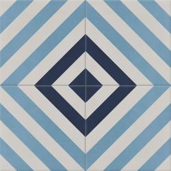 Carreau de ciment coloré gris et bleu AZUR 07.20.30