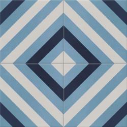 Carreau de ciment coloré gris et bleu AZUR B 07.20.30