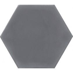 Ciment coloré Hexagone uni gris foncé HU33