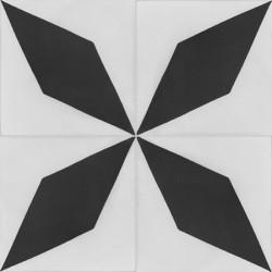 Carreau de ciment coloré noir et blanc LHASSA 10.01