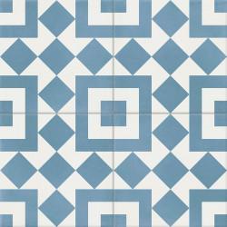 Carreau de ciment coloré bleu et blanc TWENTY 10.20