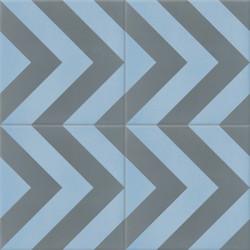 Carreau de ciment coloré gris et bleu EPI 15.32
