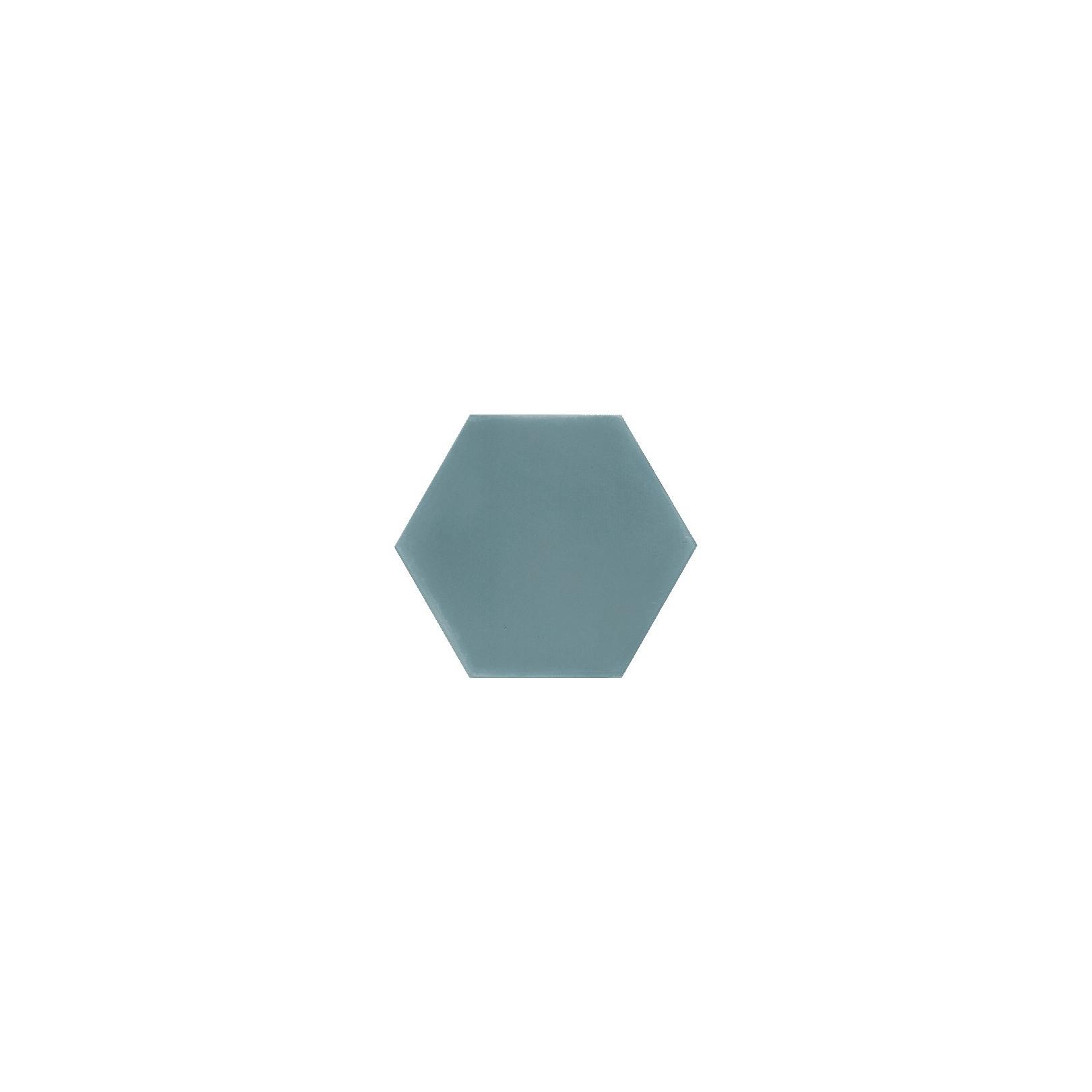 Ciment coloré Hexagone uni bleu vert HU39