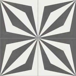 Carreau de ciment coloré gris et blanc LOOP 32.10
