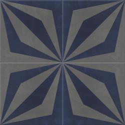 Carreau de ciment coloré gris et bleu LOOP 32.30