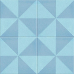 Carreau de ciment coloré bleu CIEL 15.06