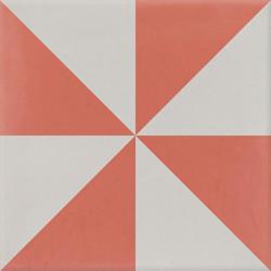 4 Carreaux de ciment coloré gris et rouge CIEL 14.07