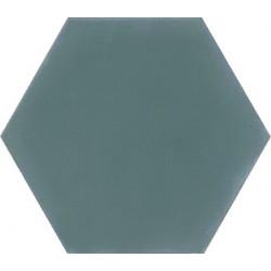 Ciment coloré Hexagone uni bleu vert HU40