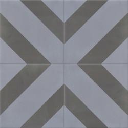 Carreau de ciment coloré gris DUPLI 32.33