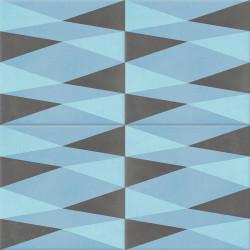 Carreau de ciment coloré bleu et gris CAMBRAI 15.06.32
