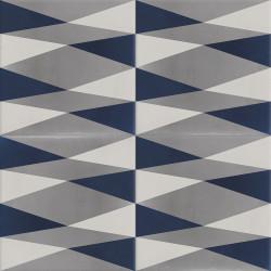 Carreau de ciment coloré bleu et gris CAMBRAI 27.30.07