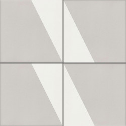 Carreau de ciment coloré gris et blanc CARL 07.10