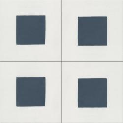 Carreau de ciment coloré bleu et blanc GEO C 10.30
