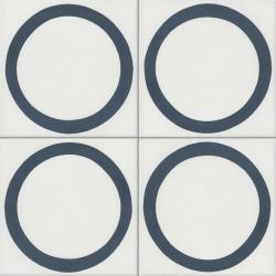 Carreau de ciment coloré bleu et blanc GEO E 10.30