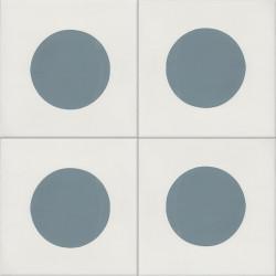 Carreau de ciment coloré bleu et blanc GEO B 10.39